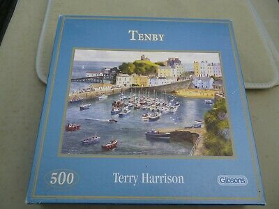 £3.50 • Buy Gibsons 500 Piece Jigsaw  Tenby  By Terry Harrison - Complete