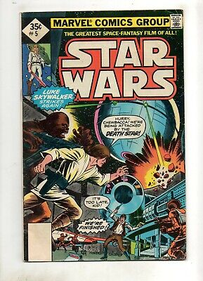 £0.71 • Buy Star Wars #5 HAN SOLO, CHEWBACCA, DEATH STAR Cover 1977 1 Whitman 35 Cent VG 4.0