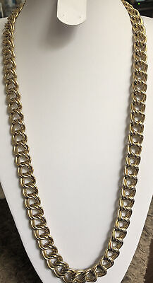 £19.99 • Buy Vintage Trifari Gold Tone Heavy Chunky Statement Necklace Used