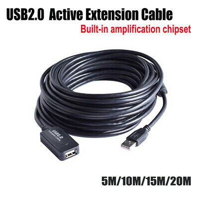 AU25.95 • Buy 5/10/15/20M USB Extension Repeater Signal Amplifier Booster Male To Female Cable