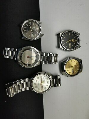 $ CDN60.90 • Buy Vintage 5 Pc Lots Seiko 5 Automatic As For Parts And Repair