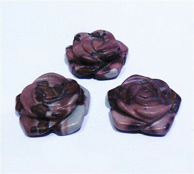 $ CDN15.41 • Buy 3Pcs 18x6mm Natural Scenery Stone Hand-Carved Flower Pendant Beads DIY HH8416