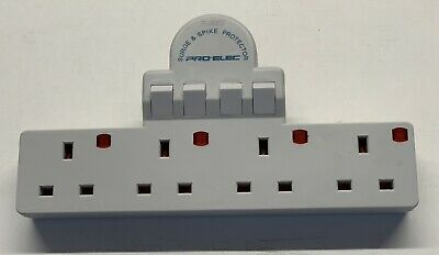 £8.99 • Buy 4 Way Extension Socket Individually Switched And Surge Protection