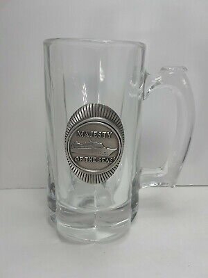 $4.25 • Buy ROYAL CARIBBEAN Majesty Of The SEAS Heavy Glass Beer Mug .For Man Cove (S3)
