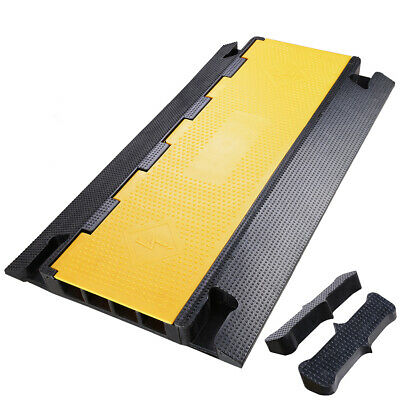 £48.99 • Buy Cable Ramp Rubber Road Protector Wire Conduit Cover Guard 4 Channel Speed Bumps