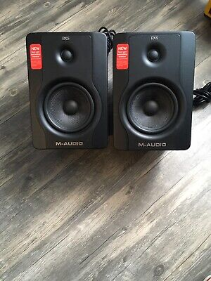 $100 • Buy M-Audio BX5 D2 Studio Speakers - Lightly Used, Free Shipping (2 Pieces)