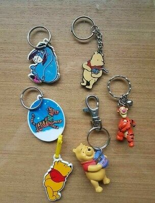 £4.99 • Buy Collection 6 Official Disney Winnie The Pooh ~ Tigger ~ Eeyore ~ Key Rings