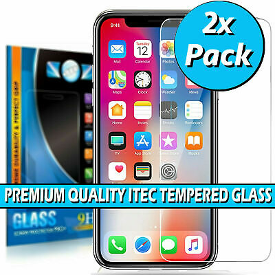 £3.95 • Buy Tempered Glass Iphone Screen Protector For Apple IPhone 11 Pro X XR XS Max Cover