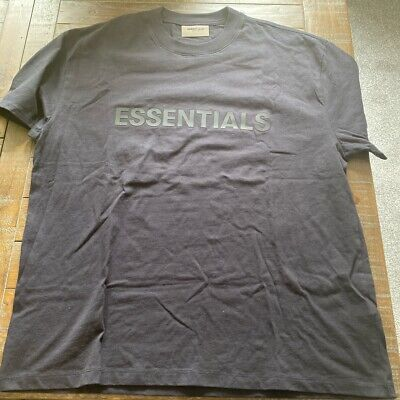 £35 • Buy Fear Of God Essentials T-Shirt SS21 - Stretch Limo Navy - Size Medium FREE SHIP