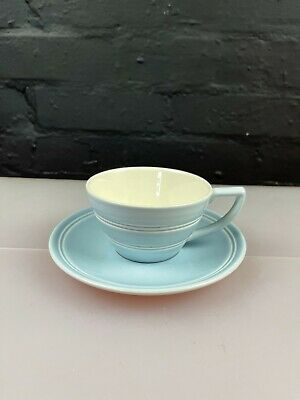 £14.99 • Buy Jasper Conran At Wedgwood Casual Blue Earthenware Tea Cup And Saucer