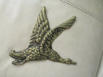 £9.99 • Buy  1 Vintage Brass Graduated Flying Duck/ Geese Wall Hanging Plaque