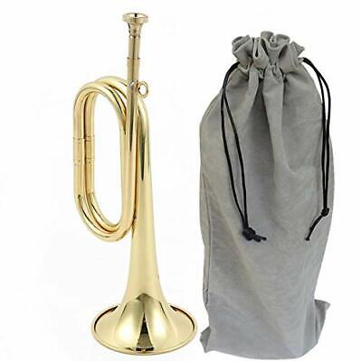 $44.42 • Buy  Trumpet Brass Cavalry For Professional Cavalry Bugle Military Gold-02