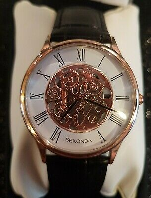£33.99 • Buy Mens Skeleton Sekonda Watch With Box And 2 Year Manufacturers Guarantee, New