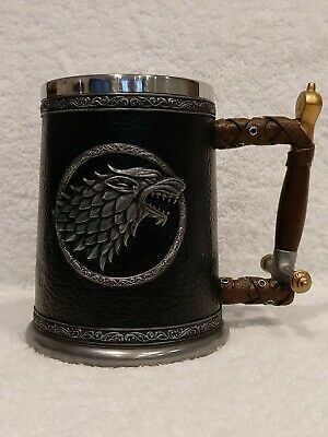 £39.99 • Buy Official Hbo Game Of Thrones Stark Winter Is Coming Tankard + Free Shot Glass