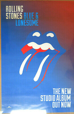 £19.95 • Buy Rare Original - Rolling Stones - Blue And Lonesome - 2016 Promotional Poster
