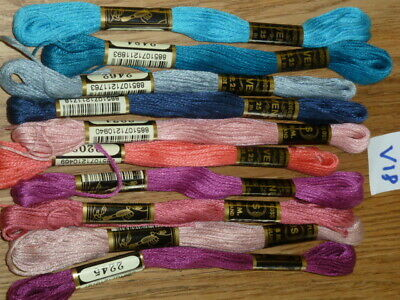 £5 • Buy 10 EMBROIDERY THREAD SKEINS ASSORTED COLOUR 100% COTTON FRIENDSHIP BRACELETS V18