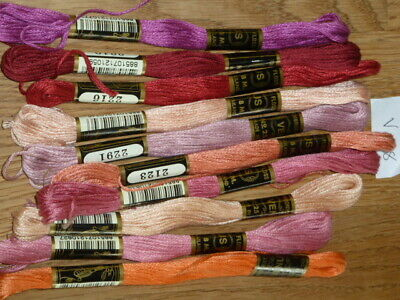£5 • Buy 10 Embroidery Thread Skeins Assorted Colour 100% Cotton Friendship Bracelets 108