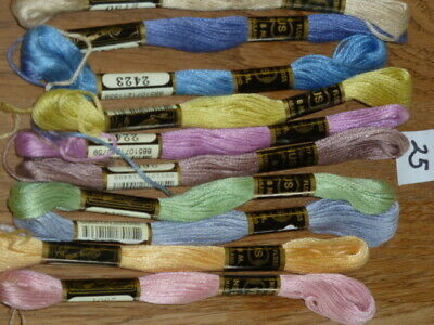 £5 • Buy 10 Embroidery Thread Skeins Assorted Colour 100% Cotton Friendship Bracelets