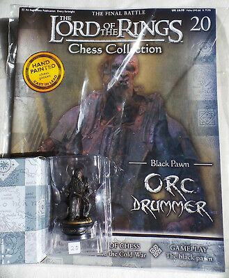 £10.75 • Buy LORD OF THE RINGS Chess Collection Set 1 #20: 'ORC DRUMMER', Eaglemoss, +mag