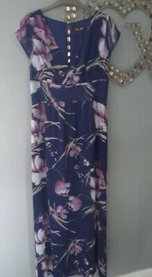 £9.99 • Buy Phase Eight Beautiful Purple And Pink Long Floral Dress Size 14 UK