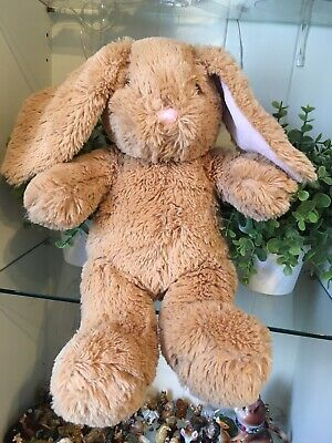 £2.99 • Buy BUILD A BEAR WORKSHOP 15  LIGHT BROWN BUNNY RABBIT PINK EARS SOFT TOY Cuddly