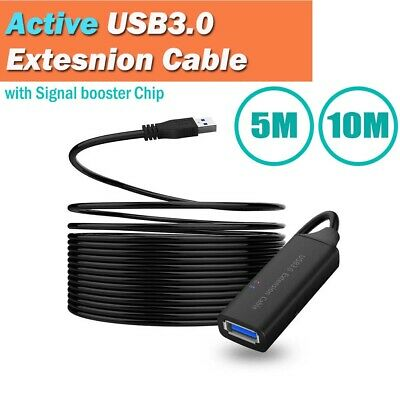 AU58.95 • Buy 5/10m Active USB 3.0 Extension Extender Cable Male To Female Signal Booster Chip