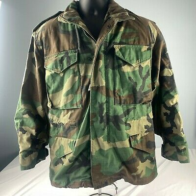 $50.37 • Buy M-65 1999 US MILITARY Woodland Camo Cold Weather Field SMALL SHORT JACKET