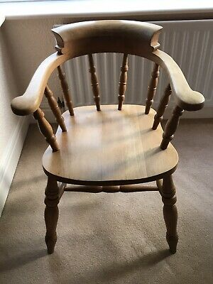 £50 • Buy Solid Pine Captains Chair Very Comfy