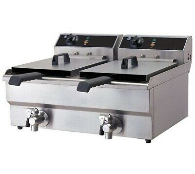 £339 • Buy Commercial Electric Fryer Counter Top Double Tank Twin Baskets Chips Chicken