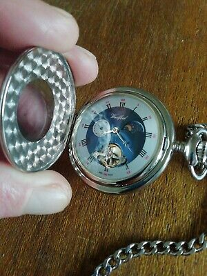 £35 • Buy Woodford Moon Phase Pocket Watch