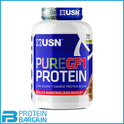 £24.95 • Buy USN Pure GF-1 Protein Low Carb 1kg Low Sugar 7 Source Protein Blend New Formula