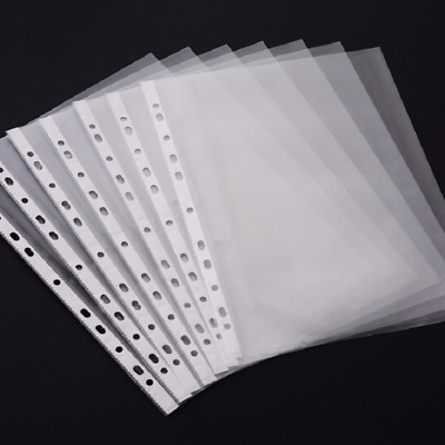 £0.99 • Buy A5 Clear Plastic Punched Pockets Filing Folders Wallets With 11 Holes 55micron