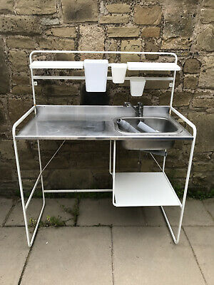 £55 • Buy Ikea Mini Kitchen Sink Sunnersta With Tap, Waste Pipe And Accessories