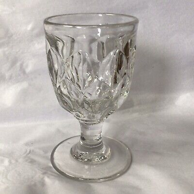 £12 • Buy Victorian Heavy Pressed Glass Rummer / Goblet, With Pontil Base