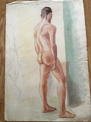 £18 • Buy Nude Study Of A Male, Watercolour, Signed, Dated 1927, 22 X15in ,on Paper.