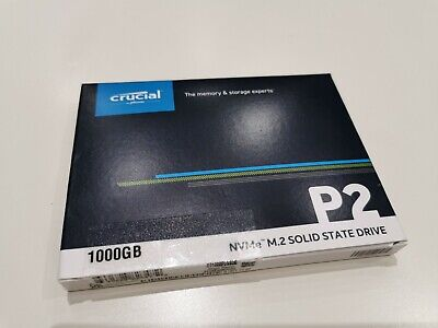 £79 • Buy Crucial P2 1TB Internal SSD, Up To 2400 MB/s (3D NAND, NVMe, PCIe)