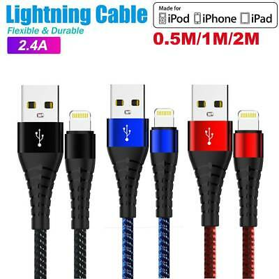 AU7.26 • Buy Braided USB Charging Phone Cable Data Cord Charger For IPhone 12 11 7 X 8 6 IPad