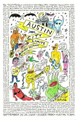 $16.99 • Buy AUSTIN CITY LIMITS 2008 CONCERT POSTER REPRO 11x17 FOO FIGHTERS ACL ROBERT PLANT