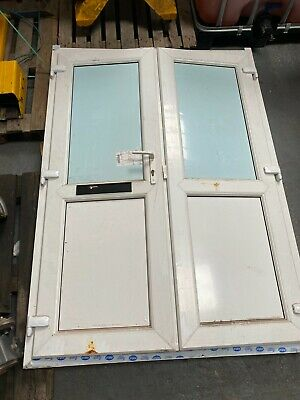 £10 • Buy External UPVC Double Glazed Doors White With Letterbox