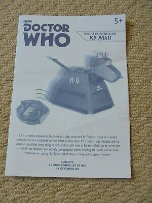 £2.99 • Buy BBC Doctor Who Original Paper Instruction Leaflet For Radio Controlled K9 MkIII