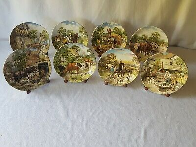 £23.99 • Buy 8 X Limited Edition Wedgewood Collectors Plates 'Life On The Farm' With Stands