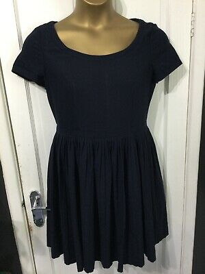 £3.99 • Buy NEXT Size 14 Navy Blue Dress Pleated Skirt Section