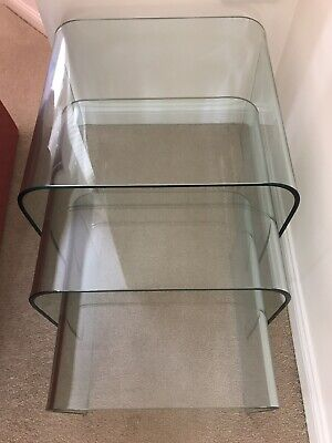 £0.01 • Buy Marks & Spencer M&S Clear Glass Nest Of 3 Tables - Immaculate Condition