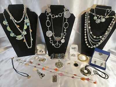 $ CDN56.65 • Buy Lia Sophia Lot Jewelry Necklaces Earrings Rings Vintage - Now All Signed