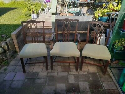 AU150 • Buy Used Dining Chairs (Set Of 8) Upholstered