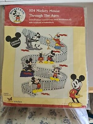 £23 • Buy 'LIMITED EDITION' Mickey Mouse Counted Cross Stitch - Mickey Through The Ages