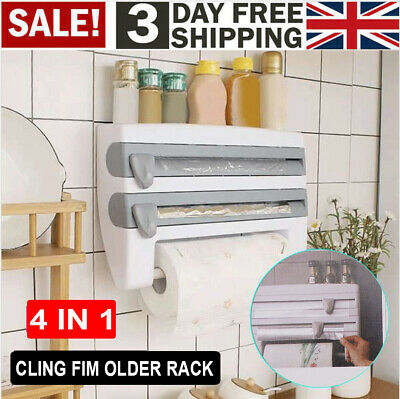 £9.69 • Buy Cling Film And Kitchen Foil Dispenser Paper Towel Roll Holder Wall Mounted Racks