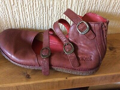 £8 • Buy Ladies Kickers Size 39 In Burgundy Leather Uppers. In Good Used Condition,