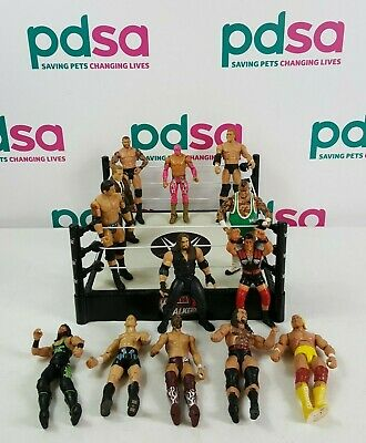 £20 • Buy WWE Tough Talkers Ring 2016 With X13 Wrestling Figures Mixed Characters - Y339