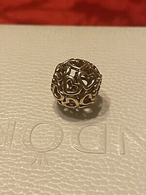 AU290 • Buy Pandora Charm Open Your Heart 750964. Genuine. 14k Yellow Gold Ale G585. Retired
